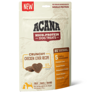 ACANA High Protein Treats Crunchy Chicken Liver Recipe Front Right 100g